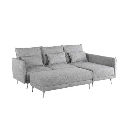 Swell Agnew Contemporary Bonded Leather Right Facing Sectional Uwap Interior Chair Design Uwaporg