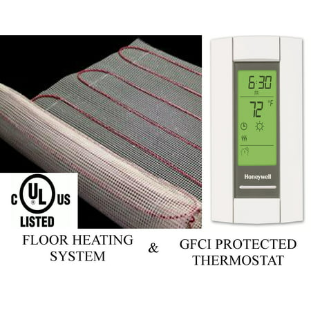 90 Sqft Warming Systems 120 V Electric Tile Radiant Floor Heating Mat with GFCI Protected Programmable Thermostat
