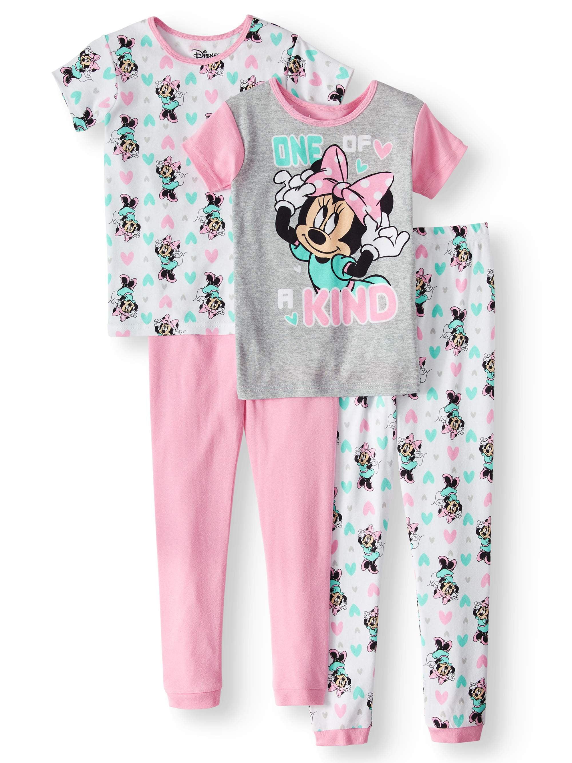 73361016b395 MINNIE MOUSE - Girls  Minnie Mouse 4-Piece Pajama Sleep Set ...