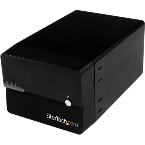 "StarTech Dual 3.5"" SATA III to USB 3.0/eSATA Hard Drive External RAID Enclosure with UASP and Fan"