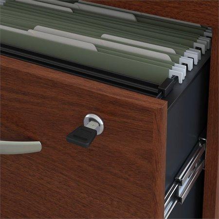 "Bush Business Series C 72"" Credenza Desk with Pedestal in Mahogany - image 2 de 7"