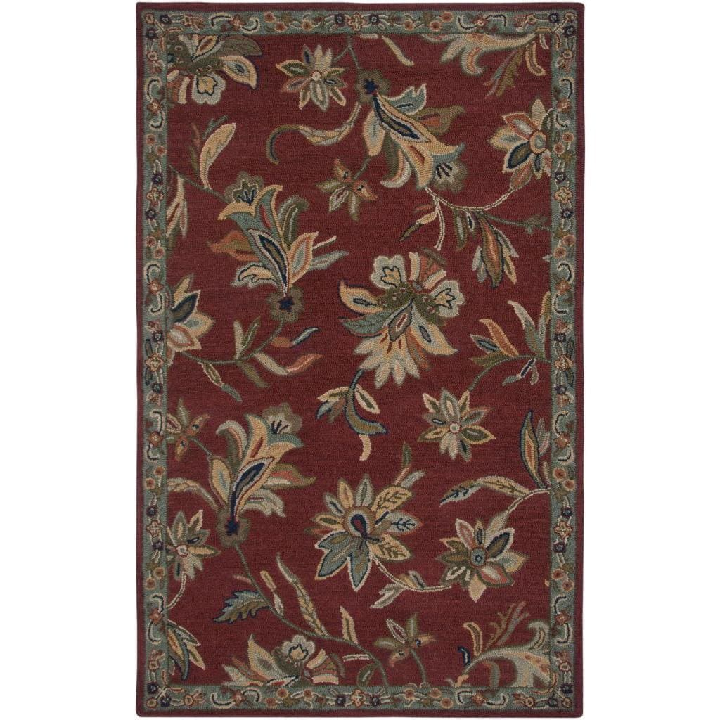 Wildon Home  Angel Hand-Tufted Red/Green Area Rug