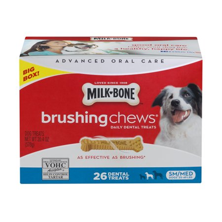 Milk Bone Brushing Chews Daily Dental Dog Treats Sm Med   26 Ct