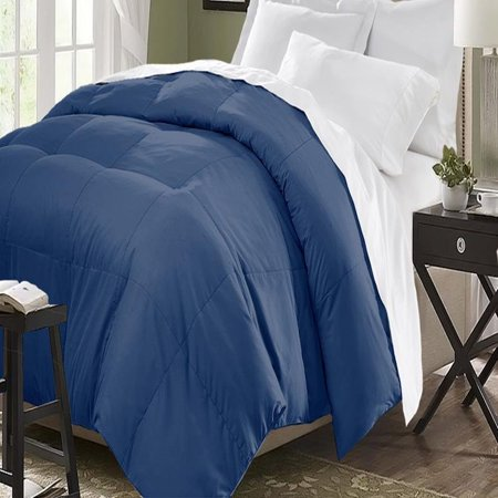 Blue Ridge Home Fashions Two-Tone Reversible Microfiber Down Alternative All Season Comforter-Hypoallergenic Polyester Fill, King, Purple/Violet