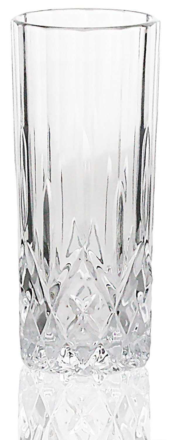 Bezrat Set of 6 Lead-Free 8oz Heavy Base High Ball Water and Beer Glasses Tumbler Beverage by Bezrat