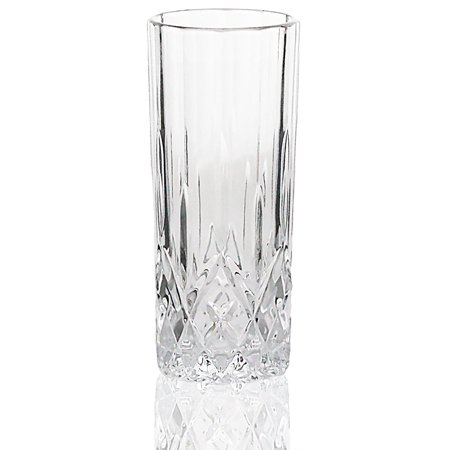Bezrat Set of 6 Lead-Free 8oz Heavy Base High Ball Water and Beer Glasses Tumbler Beverage