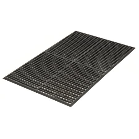 Apache Mills Grease Resistant Drainage Mat, Black, 36 x 60