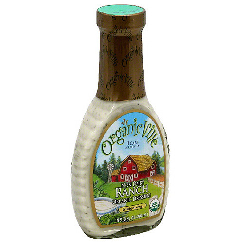 Organicville Non-Dairy Ranch Salad Dressing, 8 fl oz, (Pack of 6)