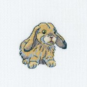 "Rabbit Fanny Counted Cross Stitch Kit-3.5""X3.5"" 14 Count"
