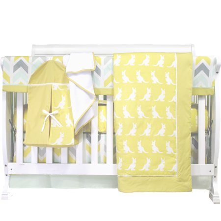 Pam Grace Creations Safari Kangaroo 6-Piece Crib Bedding - Jungle Safari Golf