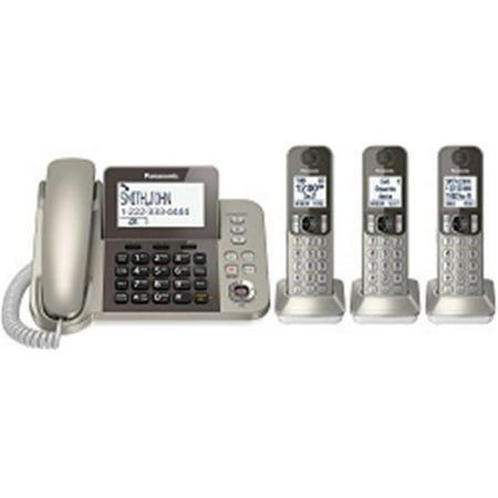 fe11f1ec6d9d Panasonic Consumer KX-TGF353N Cordless Phone and Answering Machine With 3  Handsets - image 1 ...