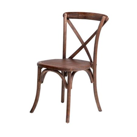 Sensational Rustic Sonoma Solid Wood Cross Back Stackable Dining Chair Marian Fruitwood Gamerscity Chair Design For Home Gamerscityorg