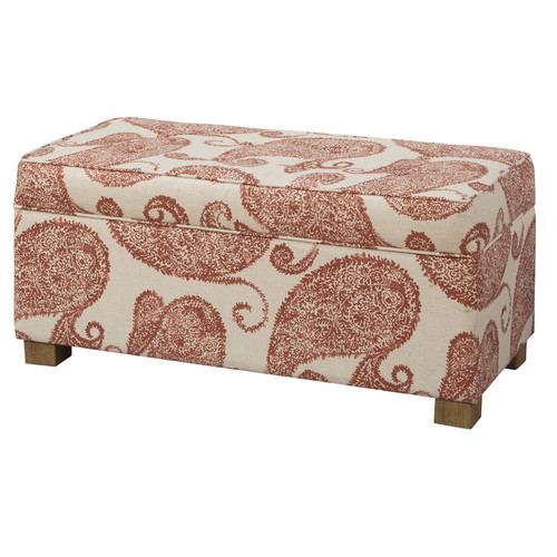 HomePop Henna Upholstered Decorative Storage Ottoman