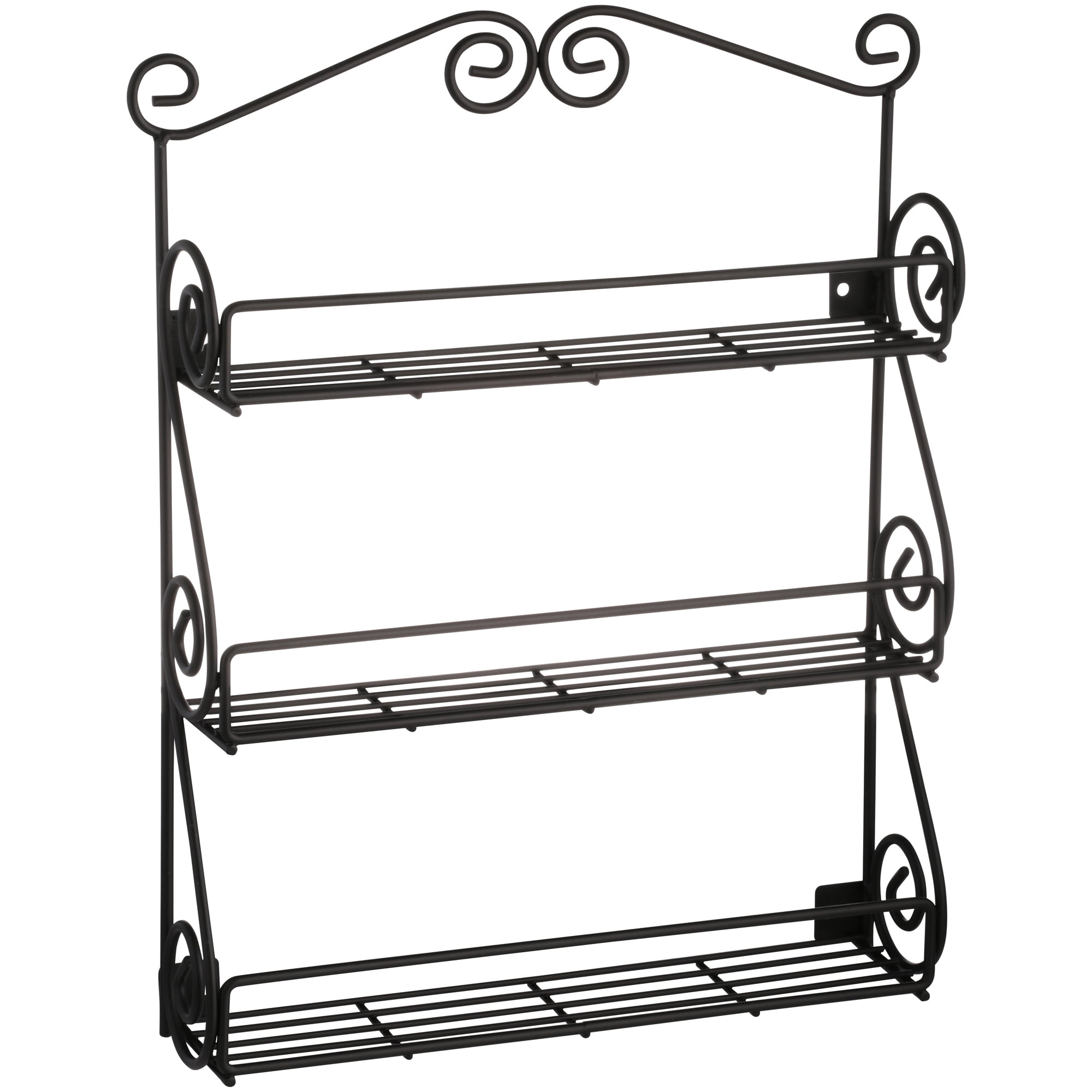 Image of: Spectrum Diversified Scroll Wall Mounted Spice Rack Traditional Spice Rack Organizer For Cabinet Kitchen Beauty Nail Polish Organizer For Bathroom Walmart Com Walmart Com