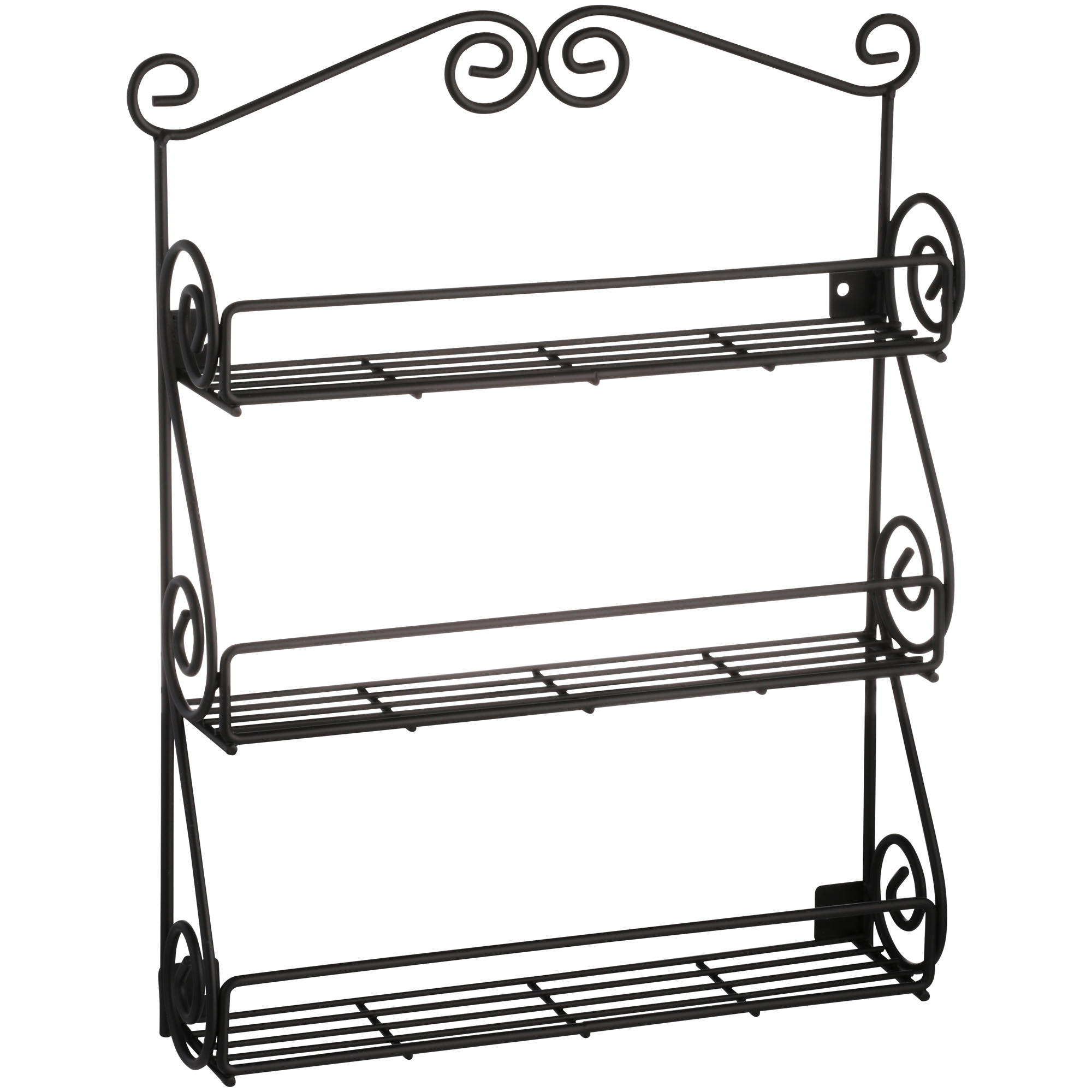 Spectrum® Scroll™ Black Spice Rack™