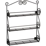 Spectrum Scroll Black Spice Rack