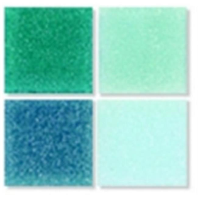 Mosaic Mercantile 0.38 x 0.38 in. Glass Authentic Square Mosaic Tile - Blue Color, 1 Lbs. Bag