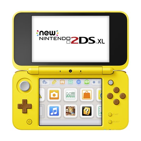 Nintendo 2DS XL Yellow Pikachu Edition with Bonus Fire Emblem Warriors Game & Portable Power Bank
