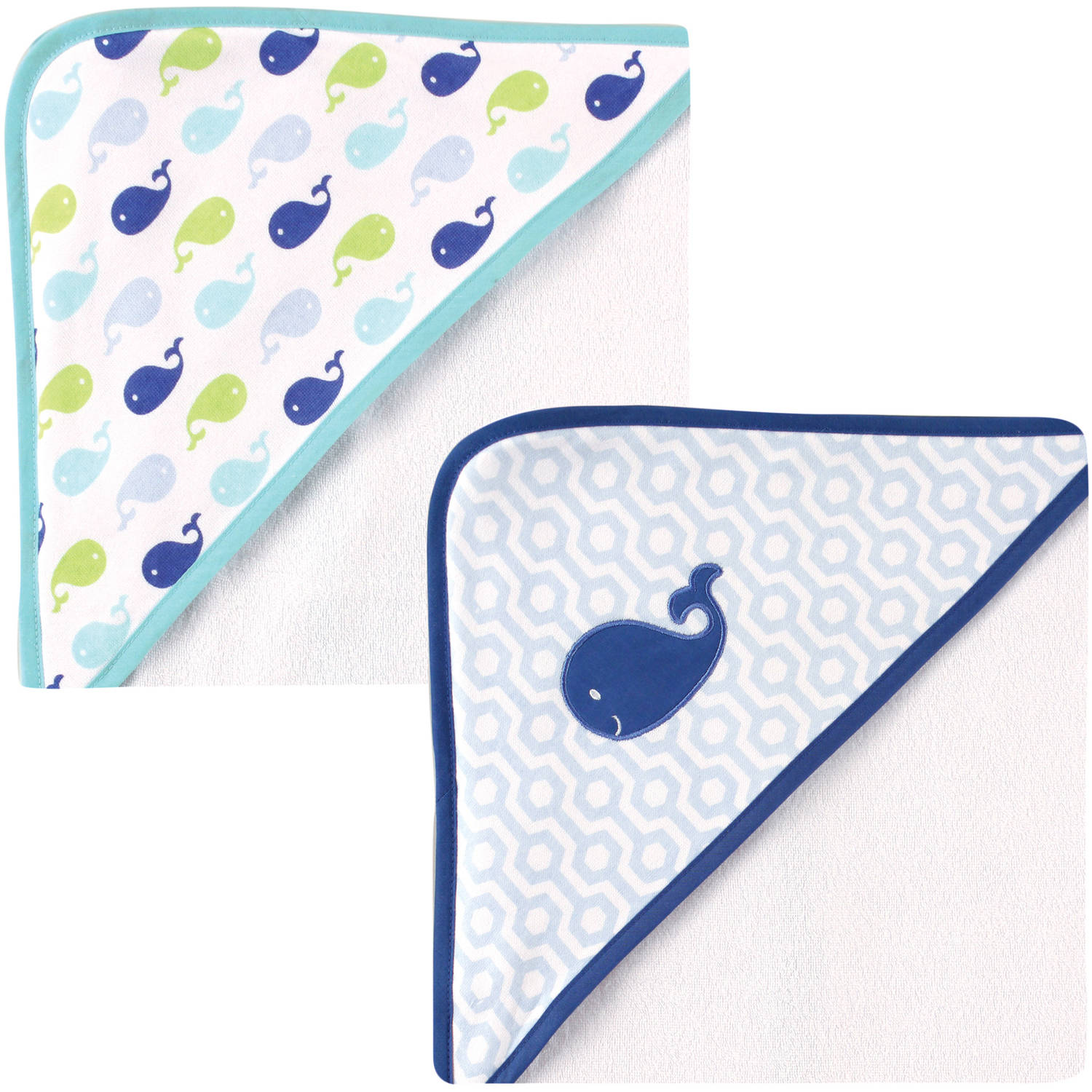 Luvable Friends Hooded Towel, 2pk, Boy