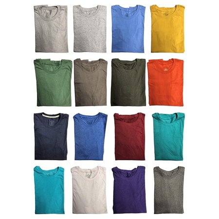 SOCKS'NBULK Mens Cotton Crew Neck Short Sleeve T-Shirts Mix Colors Bulk Pack Value Deal (60 Pack Mix,