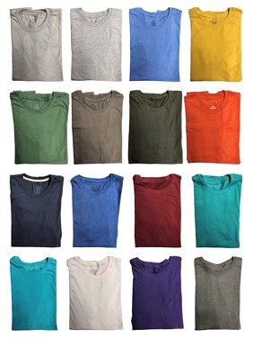 9e4102ee Product Image SOCKS'NBULK Mens Cotton Crew Neck Short Sleeve T-Shirts Mix  Colors Bulk Pack