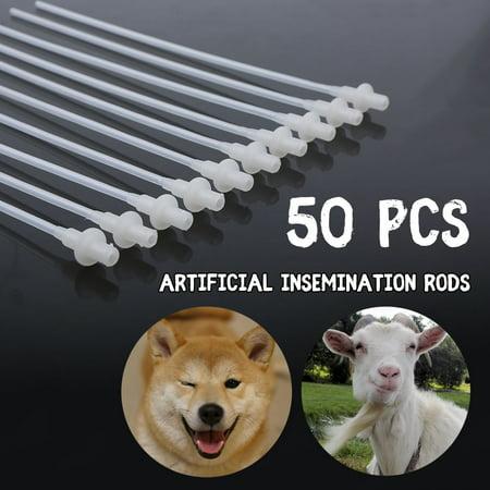 50PCS/Set Disposable Canine Dog Sheep Artificial Insemination Breeding Catheter Tube , Artificial Insemination Catheter, Insemination Tube