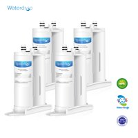 4 Pack Waterdrop WF2CB Refrigerator Water Filter Compatible with Frigidaire PureSource2 WF2CB