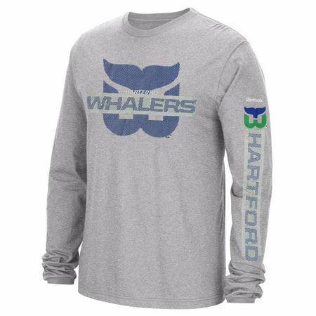 ef3c7ffaf Hartford Whalers NHL Reebok Men s Grey Graphic Long Sleeve T-Shirt -  Walmart.com