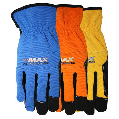 MidWest Quality HP Synthetic Leather Palm Gloves (Color May Vary)