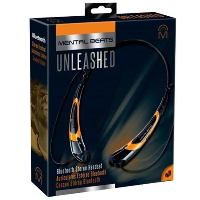Mental Beats 559 Mental Beats Bluetooth Unleashed Earbuds, Orange