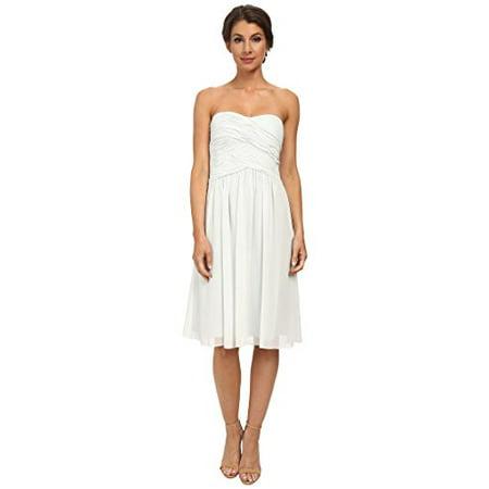 Donna Morgan Women's Anne Short Strapless Chiffon Dress Hint of Mint 10 (Donna Morgan Silk Chiffon)