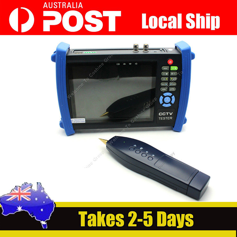 """7"""" TFT-LCD CCTV Security Cam Tester Monitor Analog HDMI VGA Cable Scan HVT-3600"""