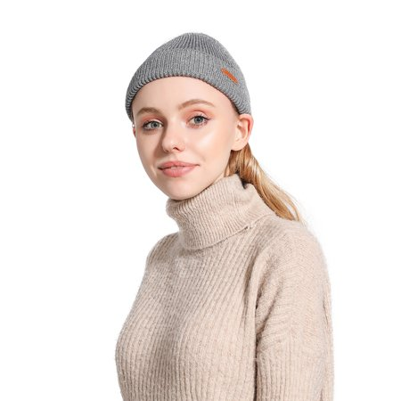 Ustyle Outdoor Autumn Winter Casual Knit Hats Women Men Beanie Hat Warm Knitted Caps Solid Color - image 8 of 9