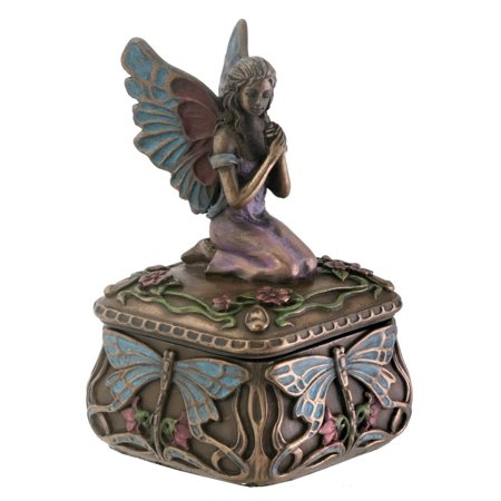 Dragonfly Fairy Box Jewelry Holder Decoration Accessory Collectible, Perfect gift for those that love Decorative Box By YTC