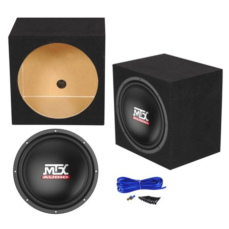 "MTX Terminator TN12-04 12"" 400 Watt Car Audio Subwoofer+Sealed Sub Box Enclosure"