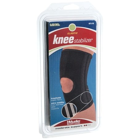 16b06e94f1 Mueller Sports Elastic Compression Open Patella Knee Stabilizer Brace SM XL  - Walmart.com