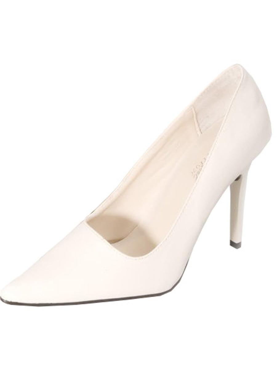 Genshuo Women Pumps Nude Pointed Toe High Heel Shoes