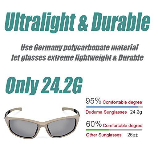 d5855f0aeef Duduma - Duduma Polarized Sports Sunglasses for Running Cycling Fishing Golf  Tr90 Unbreakable Frame (grey matte frame with black lens) - Walmart.com