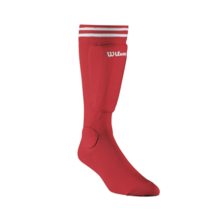 Wilson Youth-Size Sock Shin Guards, Red