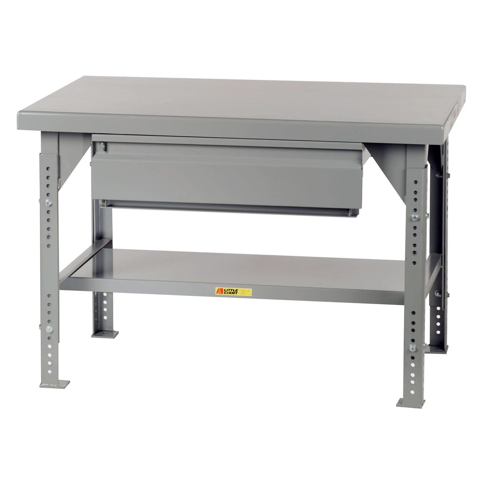 Little Giant Heavy-Duty Workbench with Drawer Adjustable 42 x 84 in. by Brennan Equipment and Manufacturing Inc