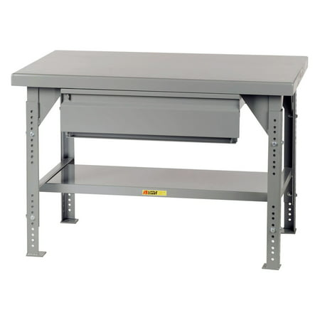 Little Giant Heavy-Duty Workbench with Drawer - Adjustable - 36 x 72 in. (Heavy Duty Workbench)