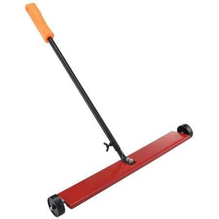 "Hiltex Magnetic Sweeper | 16"" Metal Pick Up Push Broom Mini Floor Cleaner Pull Roller"