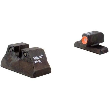 Trijicon Night Vision Compatible Sight  Compact  Fits H Usp  Orange Front  3 Dot Green  Tritium