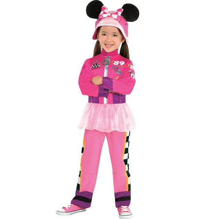 Suit Yourself Minnie Mouse Halloween Costume for Girls, Mickey & the Roadster Racers, Includes Hat (Mickey And Minnie Halloween Countdown)