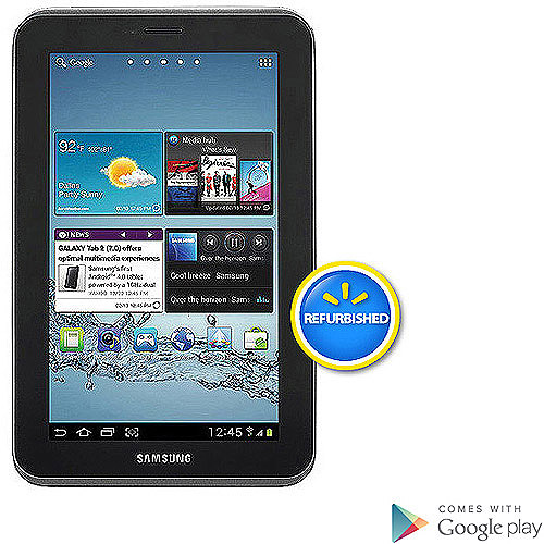 "Samsung Galaxy Tab 2 7"" Tablet 8GB Memory Refurbished"