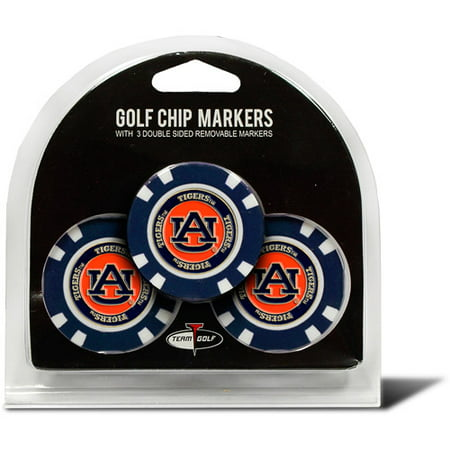 Team Golf NCAA Auburn 3 Pack Golf Chip Ball Markers