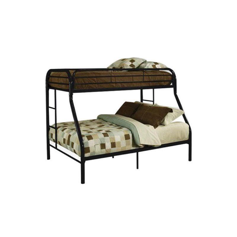 Rosebery Kids Twin Over Full Metal Bunk Bed in Black