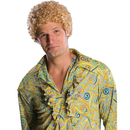 Tight Fro Men's Adult Blonde Will Ferrell Afro 1970's Disco Costume (1970's Costume Accessories)