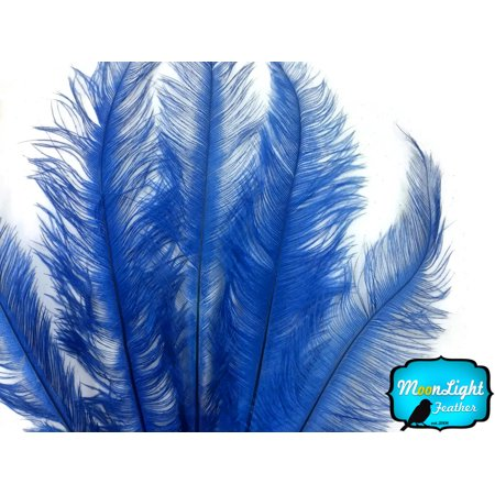 - 20 Pieces - Royal Blue Mini Spads Ostrich Chick Body Feathers
