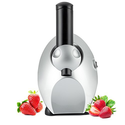 Culinaire Ollie Frozen Fruit Ice Cream / Frozen Yogurt and Dessert Maker - Black / Silver